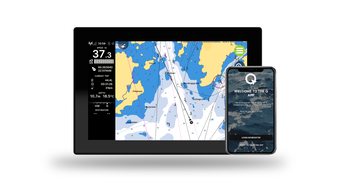 The Q App – How to connect your boat and phone